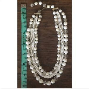 Vintage Jewelry - VINTAGE 3 strand bead necklace signed